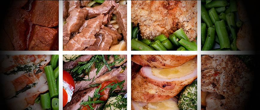 All sorts of beef, poultry, chicken, pork and other processed foods