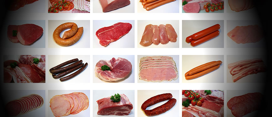 All sorts of beef, poultry, chicken, pork and other uncooked processed foods